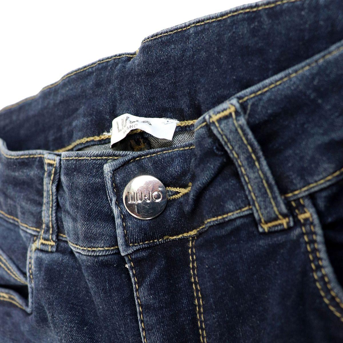 Jeans in stretch denim with studs on the bottom Medium denim Liu Jo