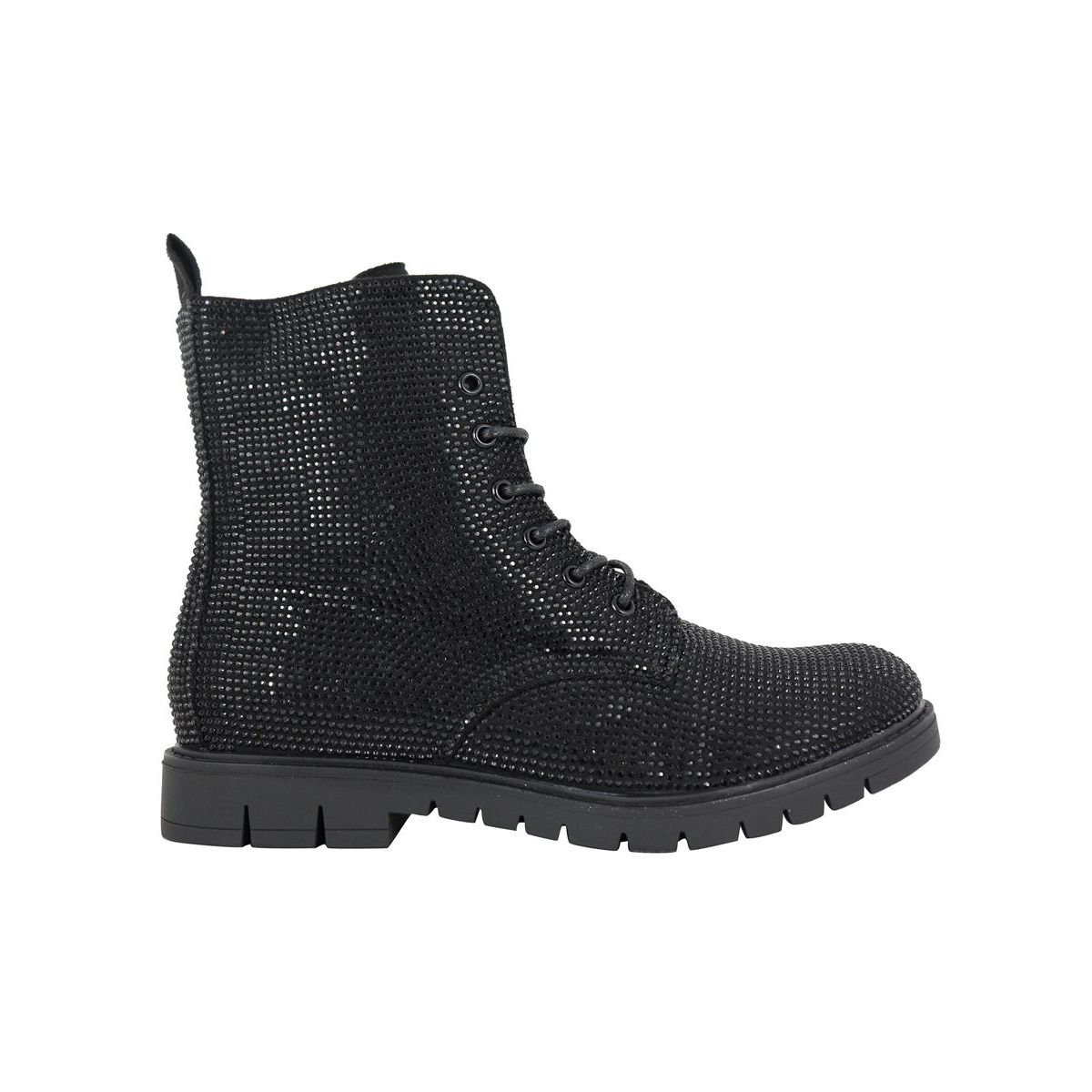 Glitter effect ankle boot Black Cult