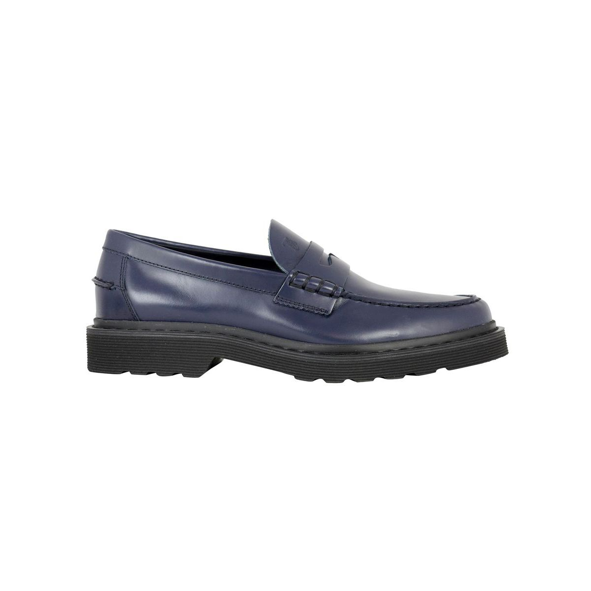 Leather moccasin Blue Tod's