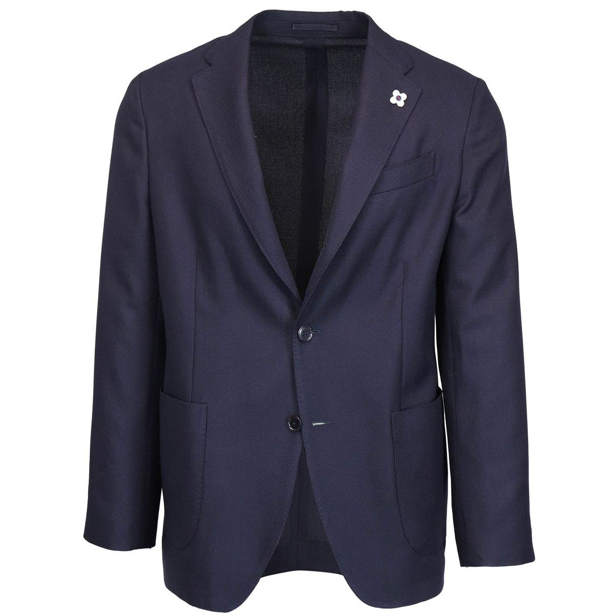 Easy Wear wool jacket Blue Lardini