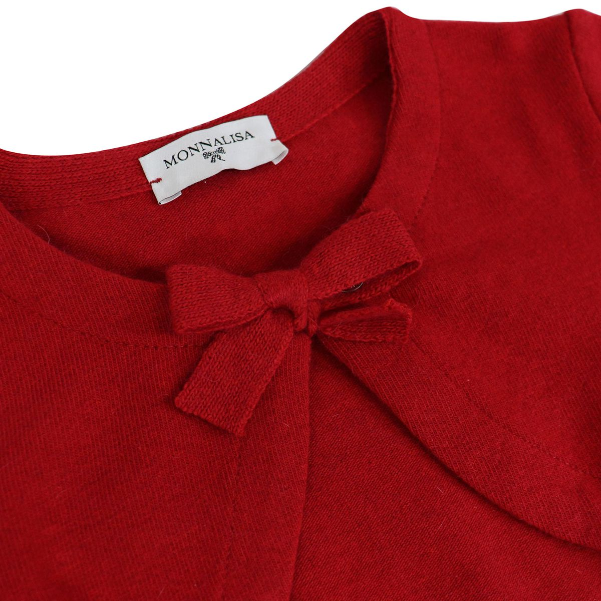 Short cardigan with bow Ruby Monnalisa