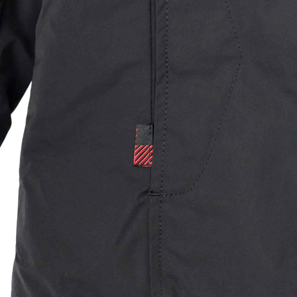 Parka luxury boulder coat with faux fur lined hood Black Woolrich