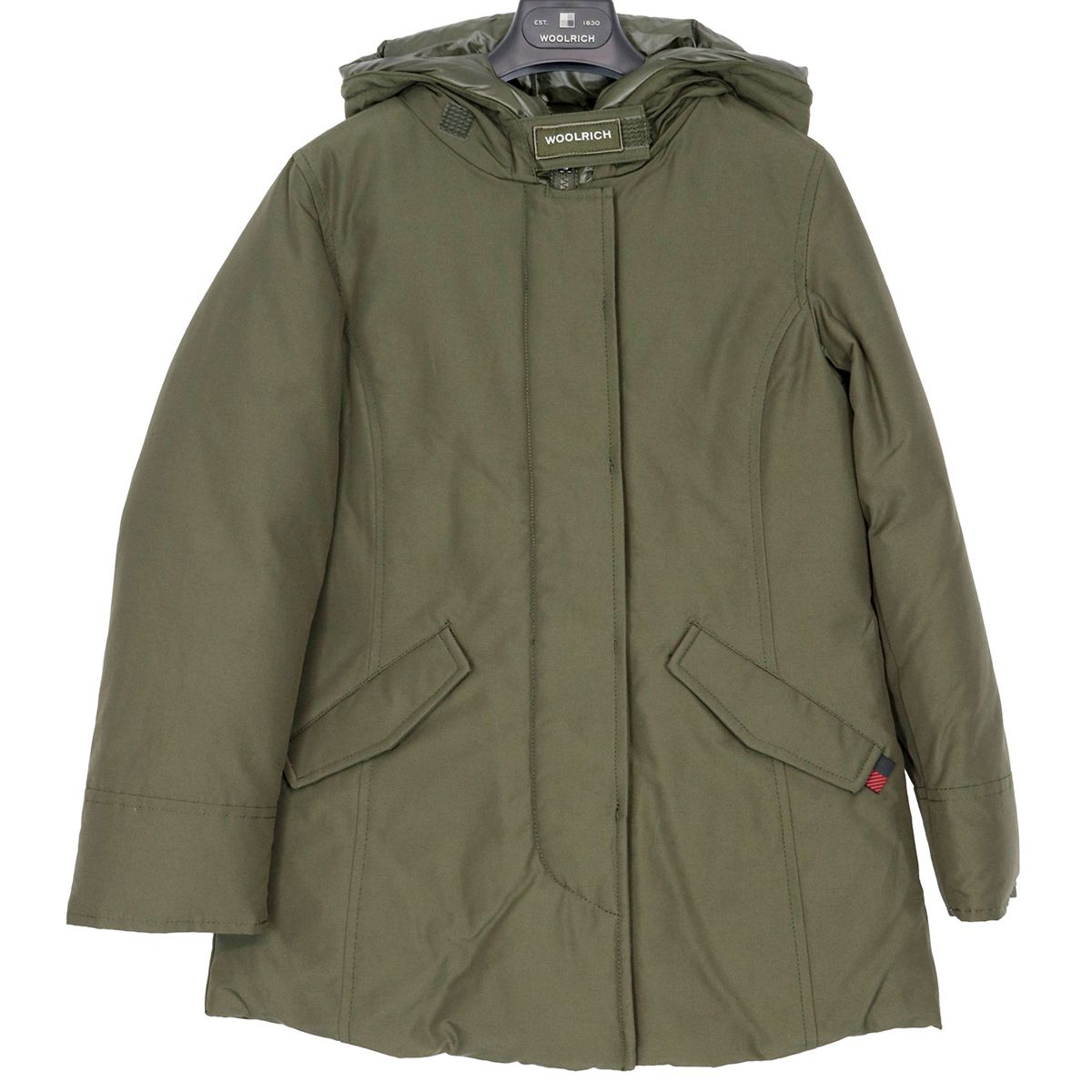 Artic parka with quilted hood Green Woolrich