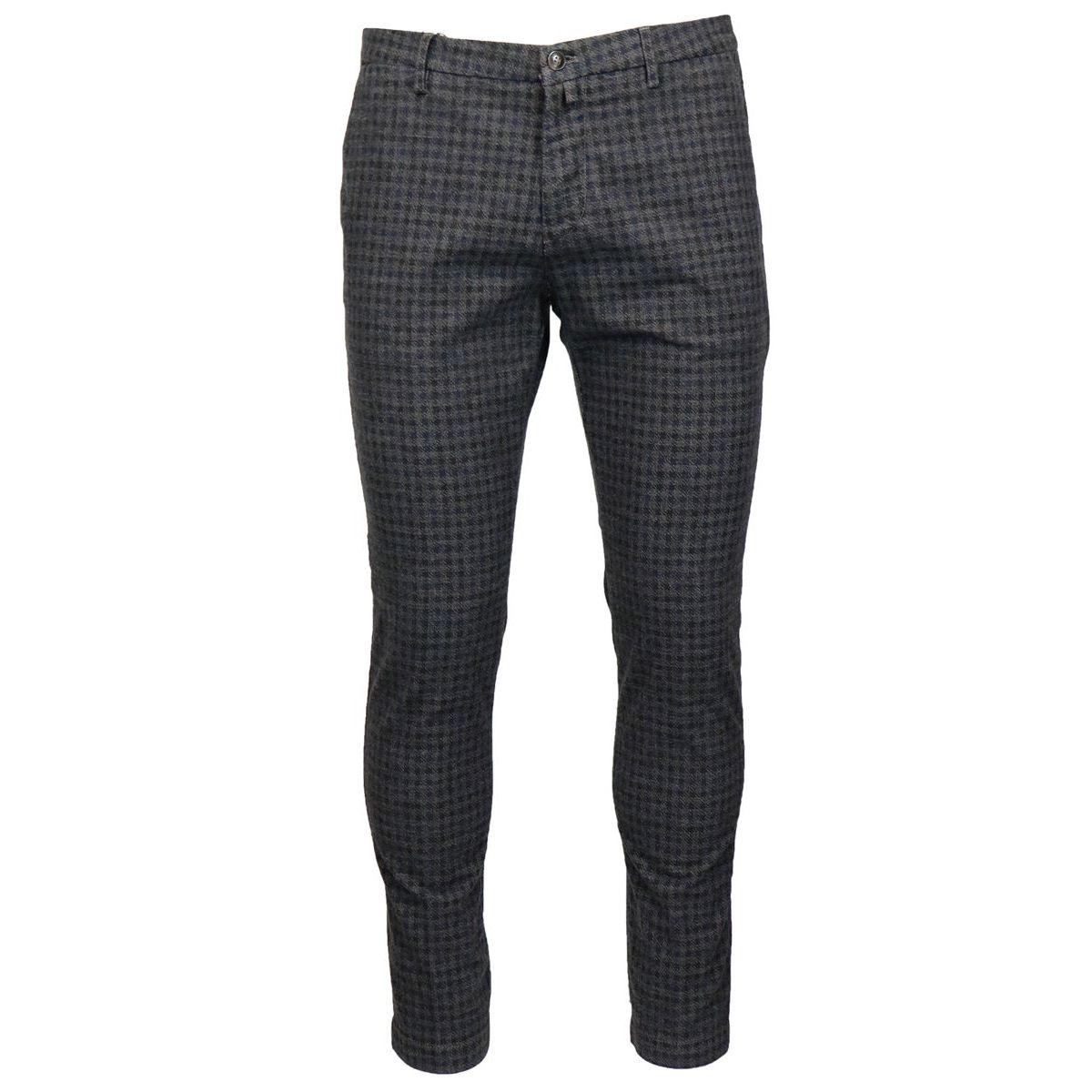 America checkered pocket trousers Grey Briglia