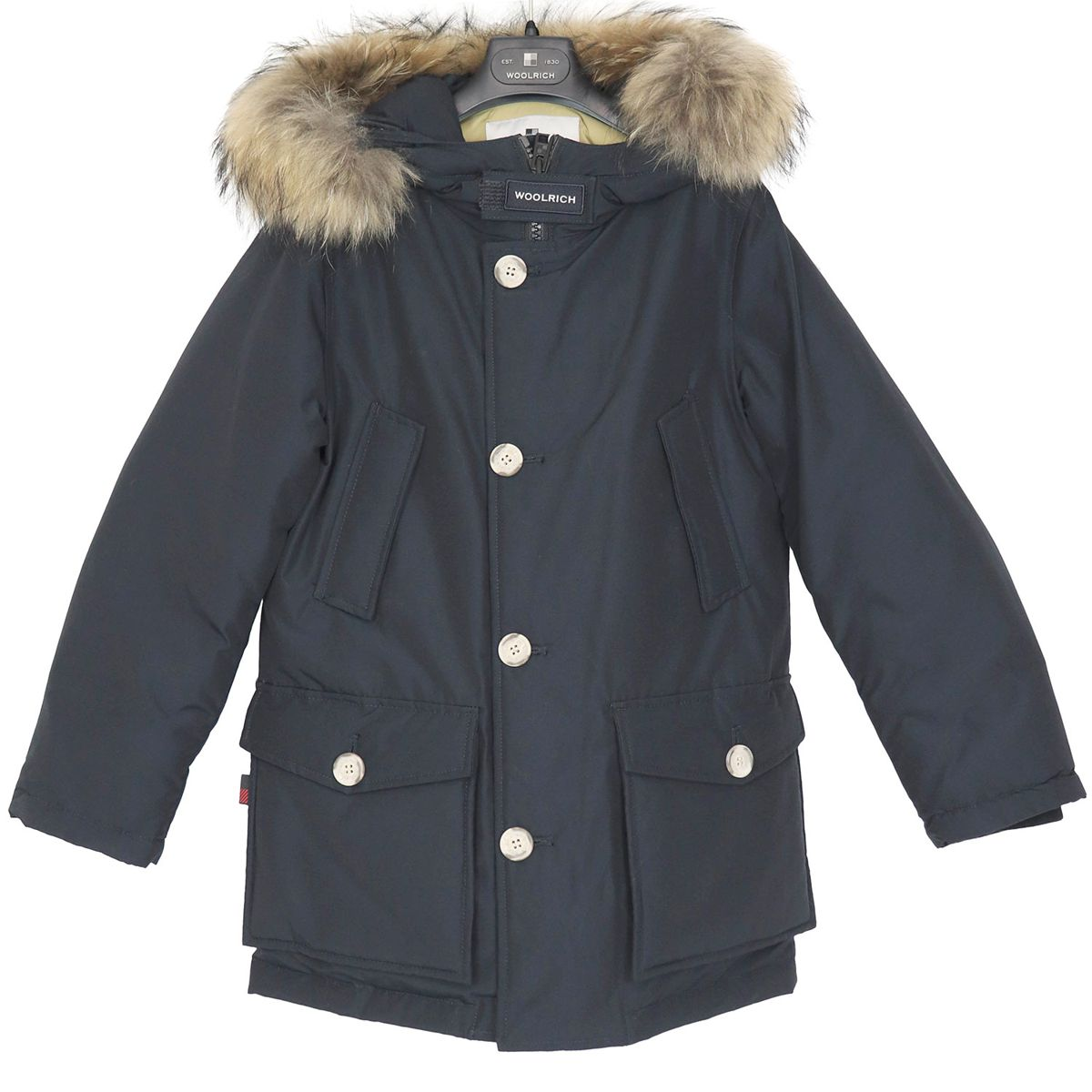 Artic parka with fur hood Blue Woolrich
