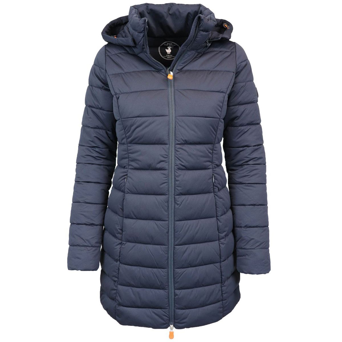 Shaped down jacket with hood Blue Save the duck