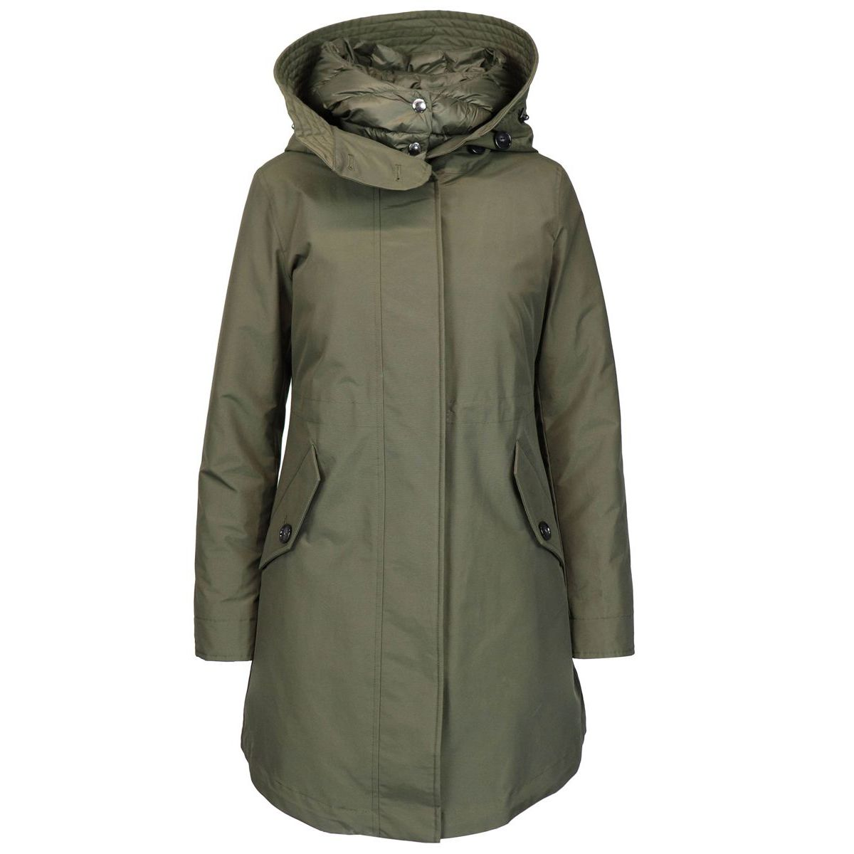 Long military coat Dark green Woolrich