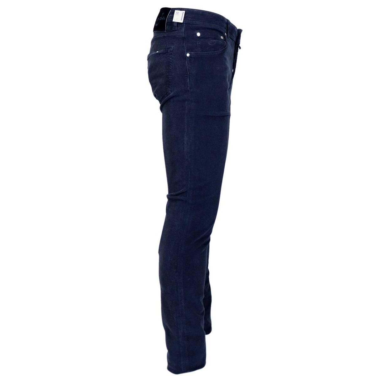 5 pocket trousers in small velvet line Blue Jacob Cohen