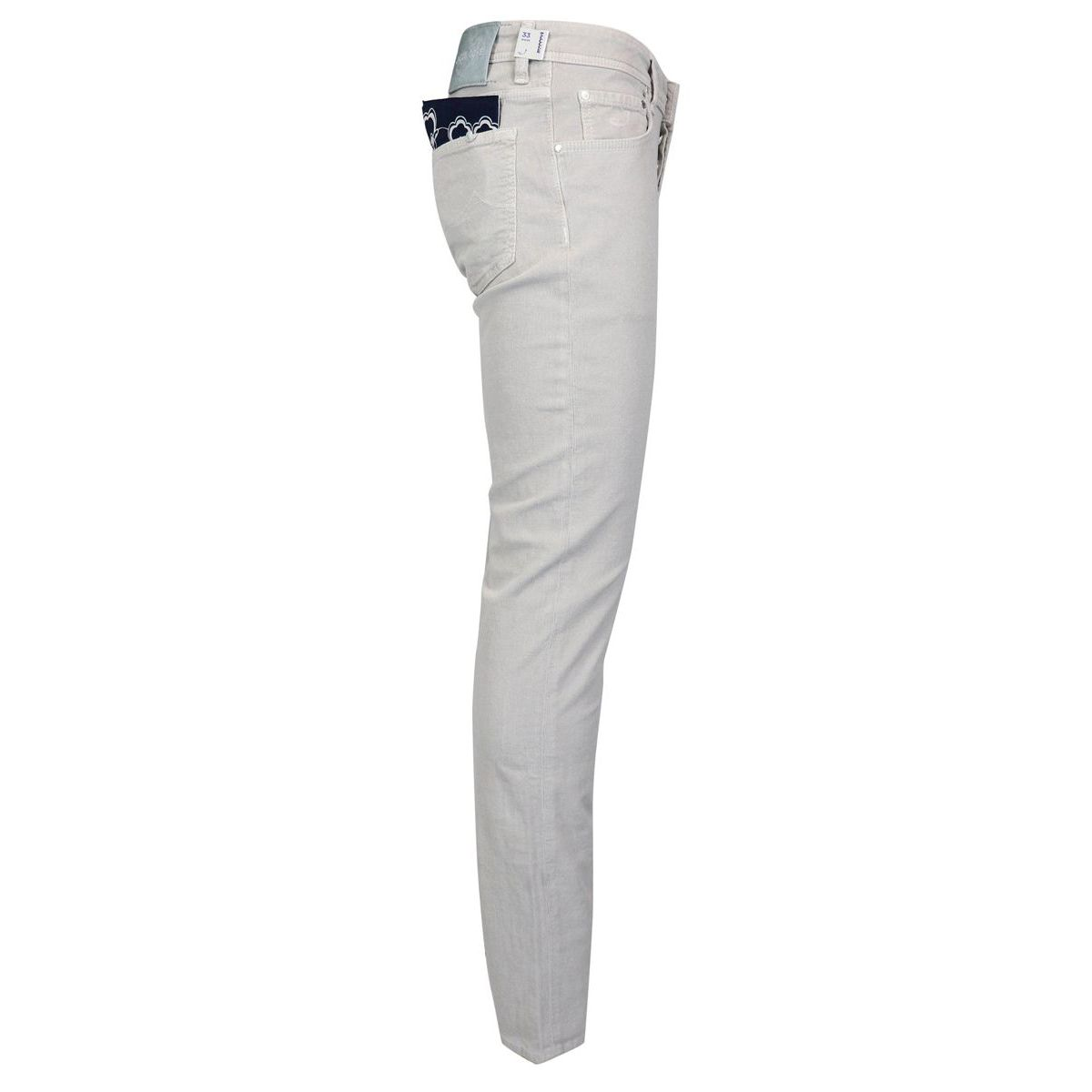 5 pocket trousers in small velvet line Light grey Jacob Cohen